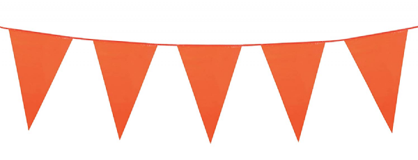 Orange Plastic Pennant Bunting 10m